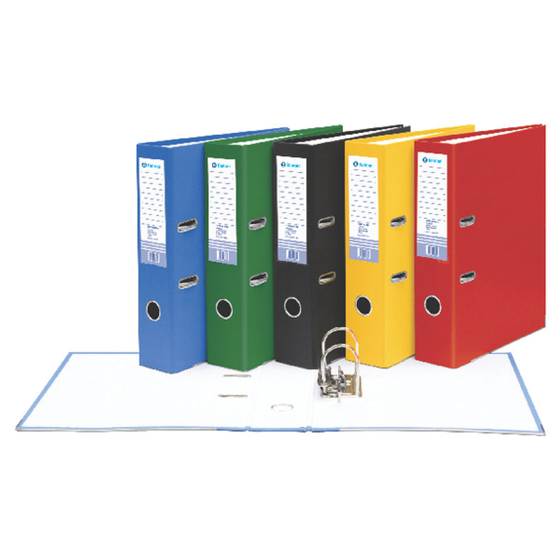 Foolscap 70mm Board Lever Arch Files Green | Medical Supermarket