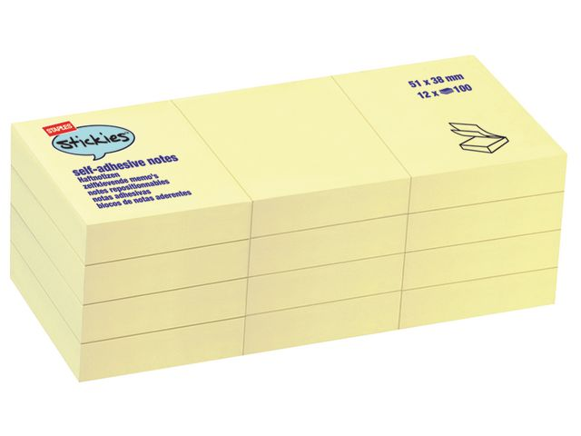 Yellow Sticky Notes 50 x 38mm | Medical Supermarket