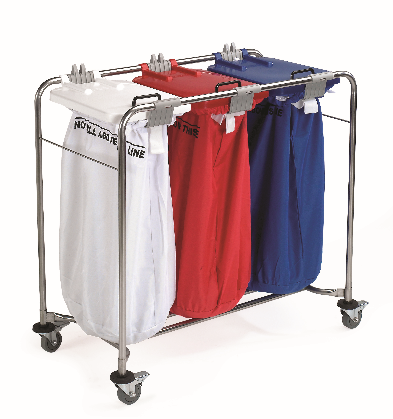 Laundry Trolleys Colour Coded Lids | Medical Supermarket