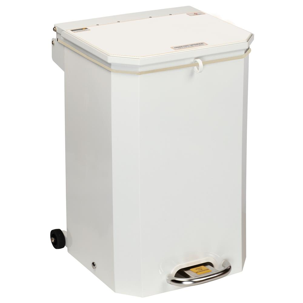 Sunflower 50 Litre Medical Bin White Lid | Medical Supermarket