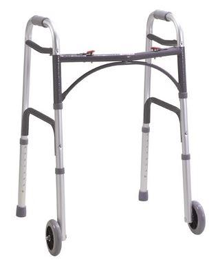 Folding Walking Frame with Wheels   Medical Supermarket