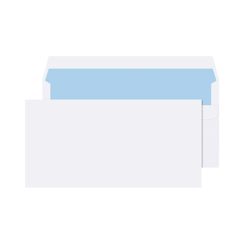 DL White Plain Envelopes 80gsm, Self Seal | Medical Supermarket