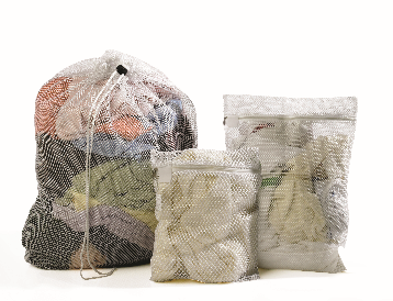 Laundry Mesh Bag 64x84cm, Drawstring Closure-White | Medical Supermarket