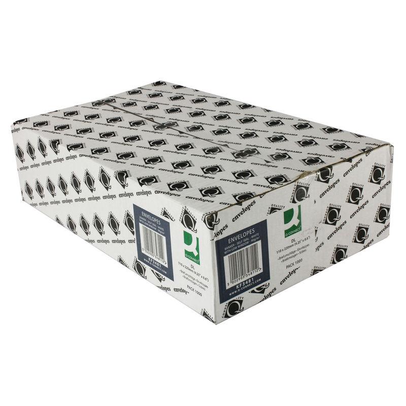 DL White Window Envelopes 80gsm, Self Seal | Medical Supermarket