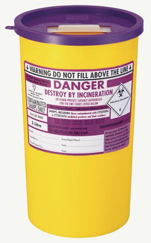 Sharpsguard Purple Cyto Bin 5 litre | Medical Supermarket
