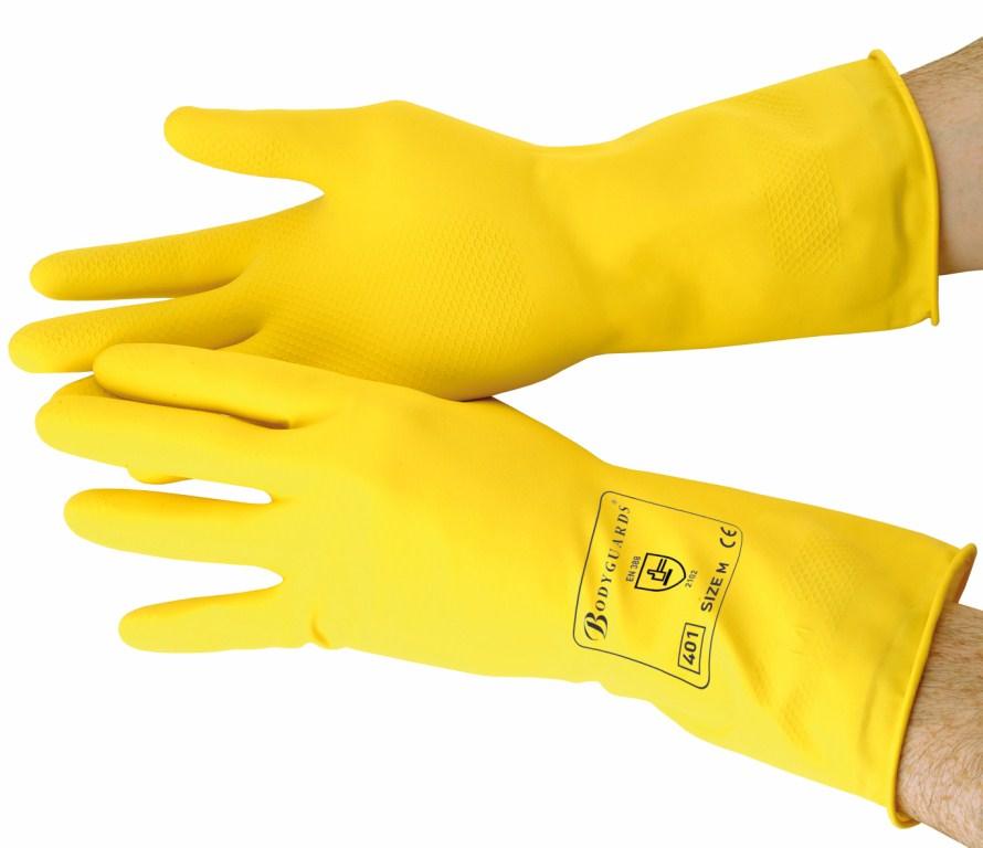 Yellow Standard Household Gloves Large | Medical Supermarket
