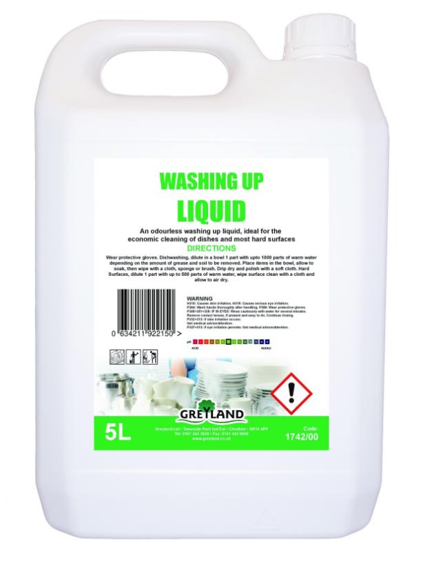Washing Up Liquid 5 Litre Pack of 1 | Medical Supermarket
