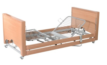 Casa Med Classic FS Low Bed with Side Rails Beech   Medical Supermarket
