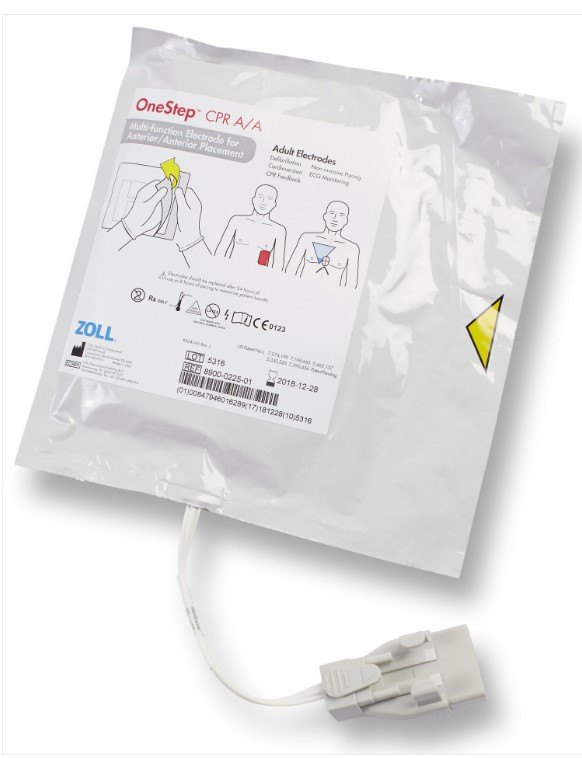 Zoll OneStep™ CPR AA Electrode, Single   Medical Supermarket