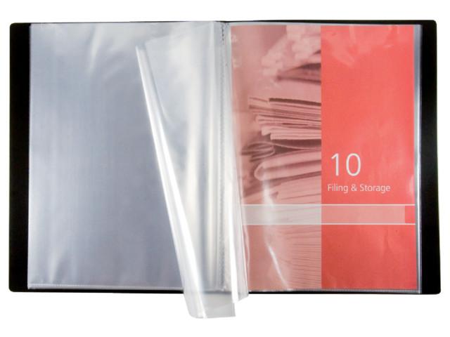 24 Part A4 Pocket Display Book Black | Medical Supermarket