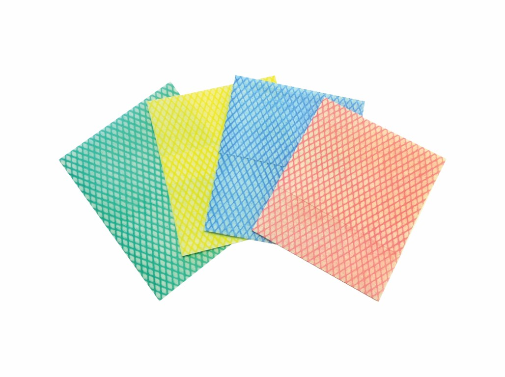 Medium Weight Cleaning Cloths Yellow   Medical Supermarket