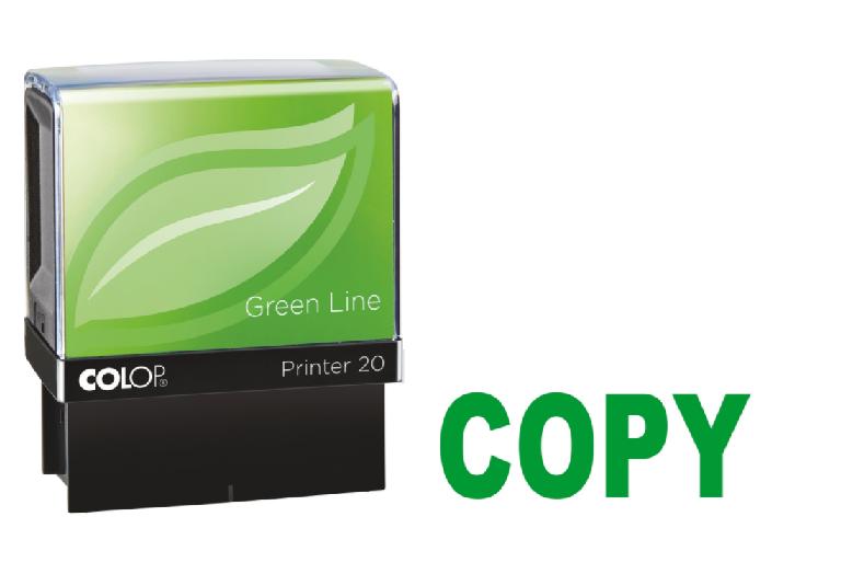Colop Printer 20 COPY Self-Inking Stamp Green | Medical Supermarket
