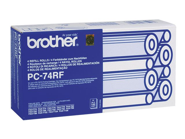 Brother PC-74RF Original Thermal Fax Ribbon Black | Medical Supermarket