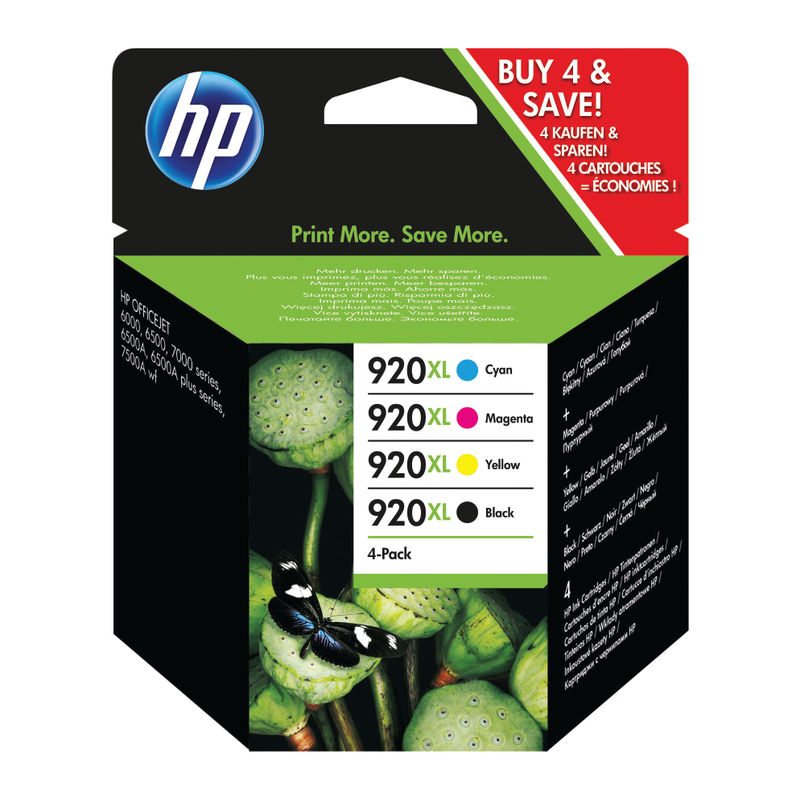 HP No.920XL Inkjet Cartridge Multipack of 4 | Medical Supermarket