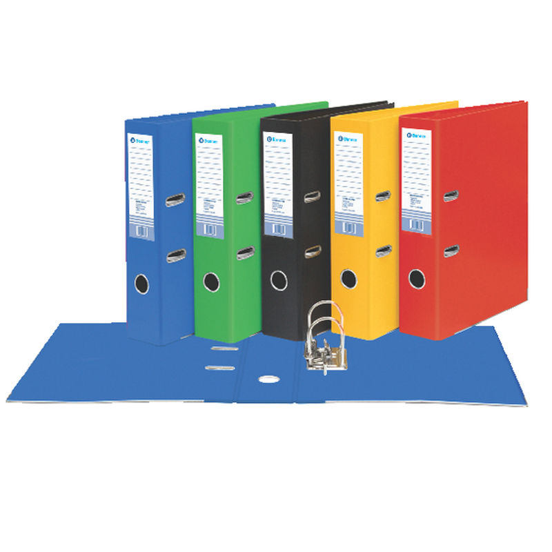 Foolscap 80mm Board Lever Arch Files Red | Medical Supermarket