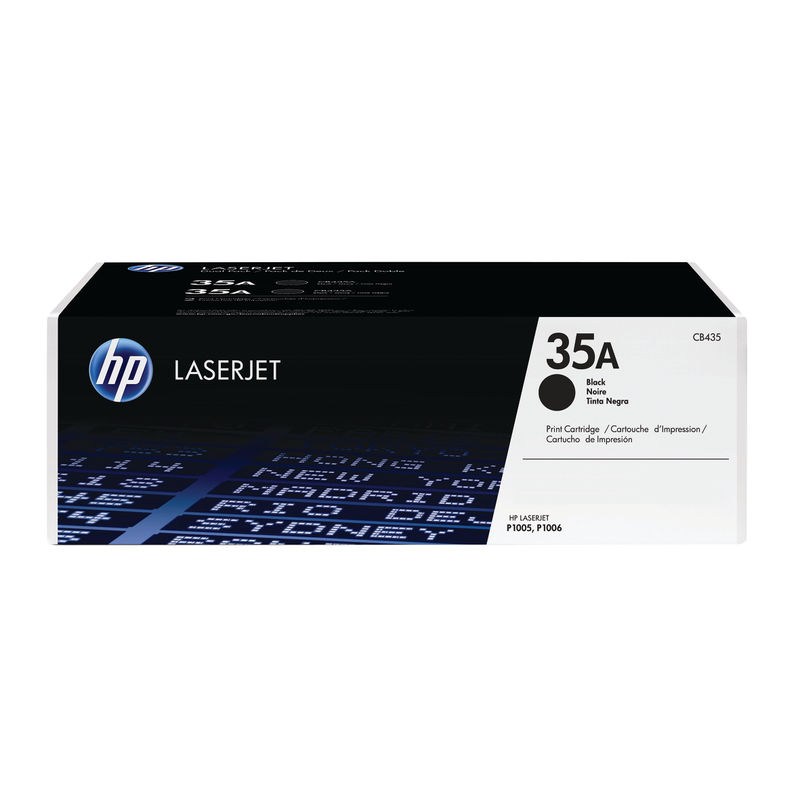 HP 35A Toner Cartridge, CB435A, Black | Medical Supermarket