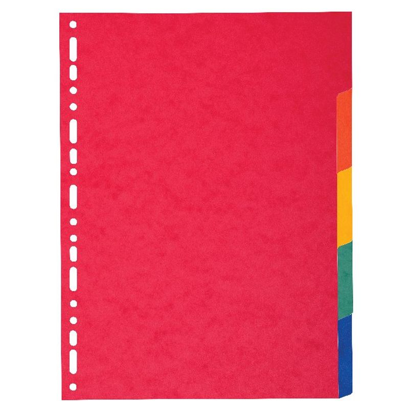 A4 Bright Coloured Subject Dividers 5 Part | Medical Supermarket