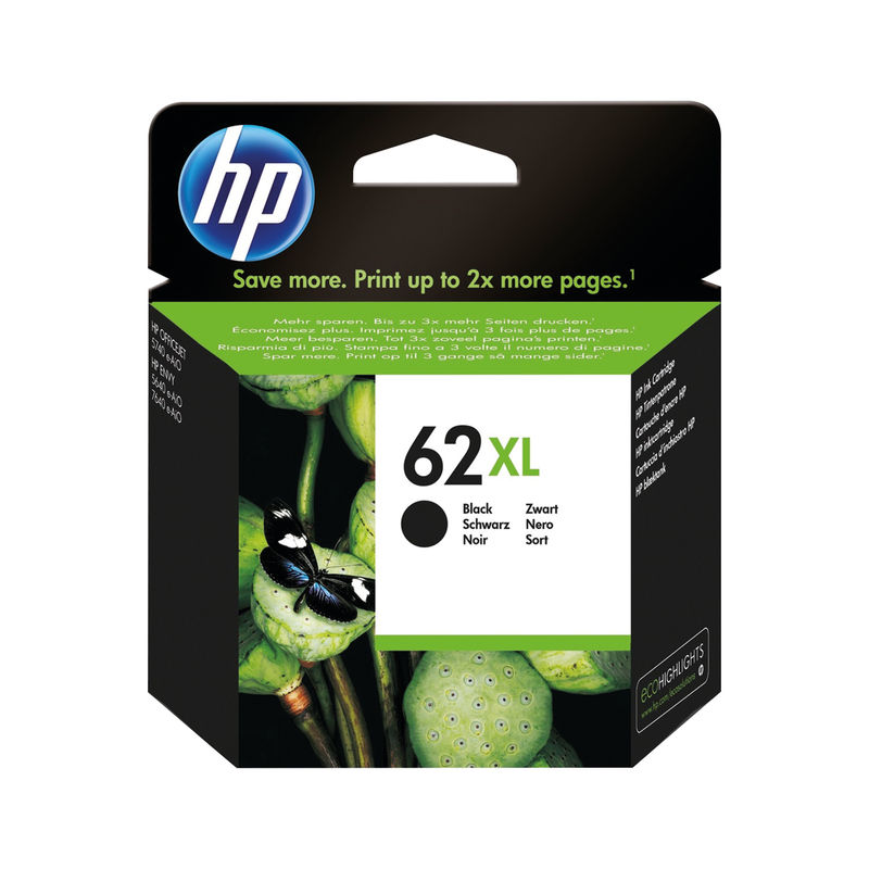 HP No.62XL Black Ink Cartridge | Medical Supermarket