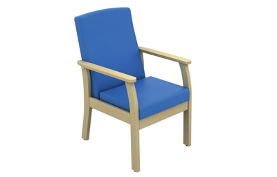 Atlas Patient Low Back Side Chair With Arms Vinyl Fabric | Medical Supermarket