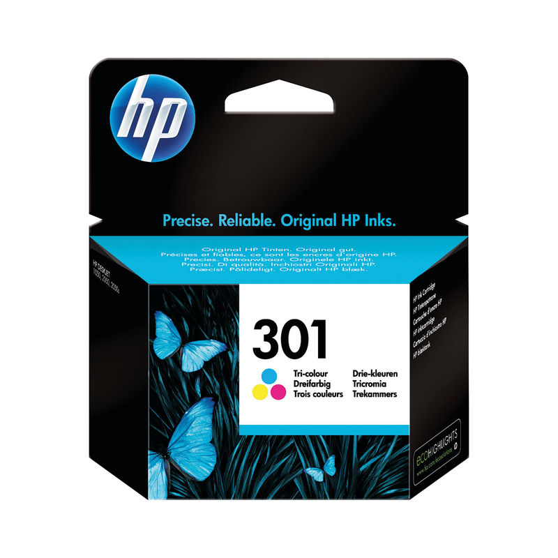 HP No.301 Ink Cartridge Tri-Colour | Medical Supermarket