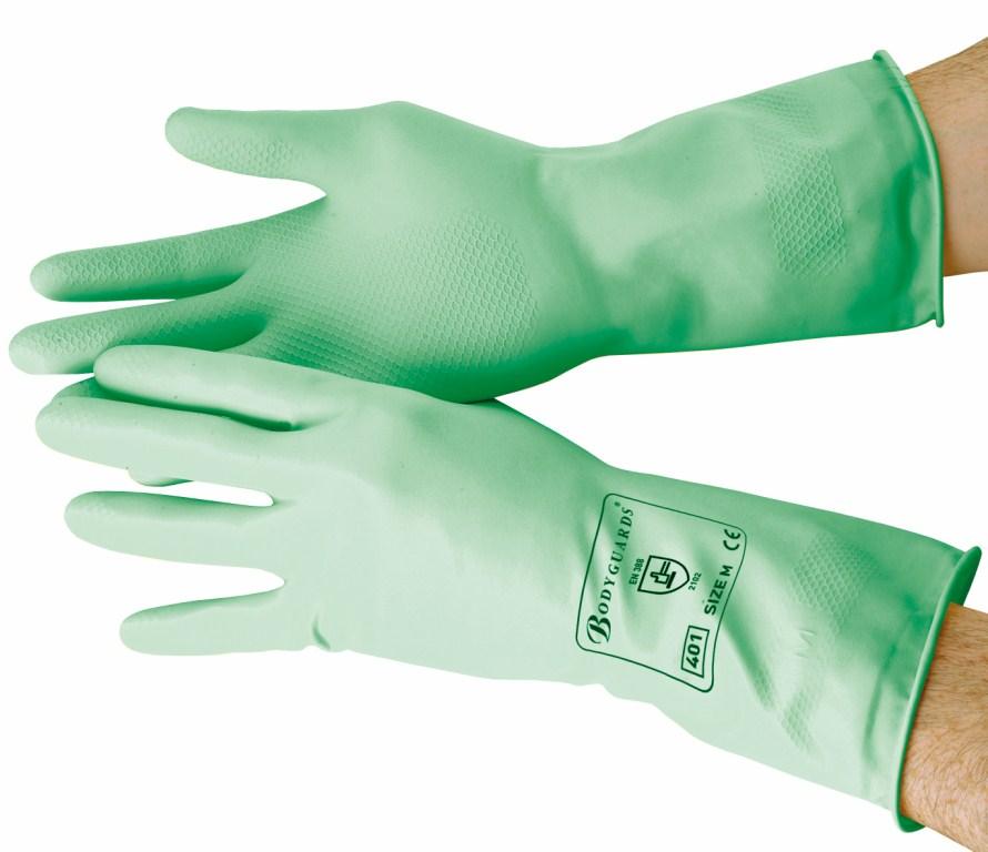Green Standard Household Gloves Medium   Medical Supermarket