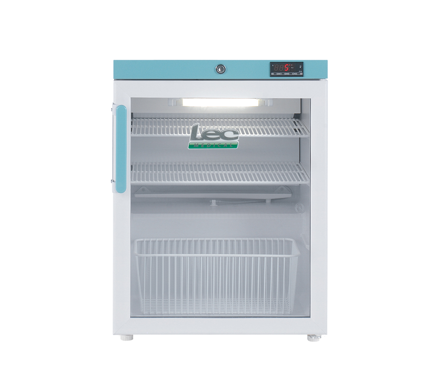 Lec PEGR82UK Pharmacy Refrigerator with Glass Door (82 Litres) | Medical Supermarket