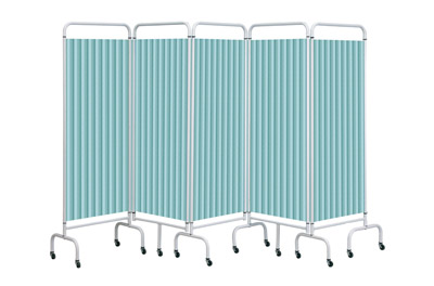 Sunflower Mobile Folding Screens with Disposable Curtains 5 Section | Medical Supermarket