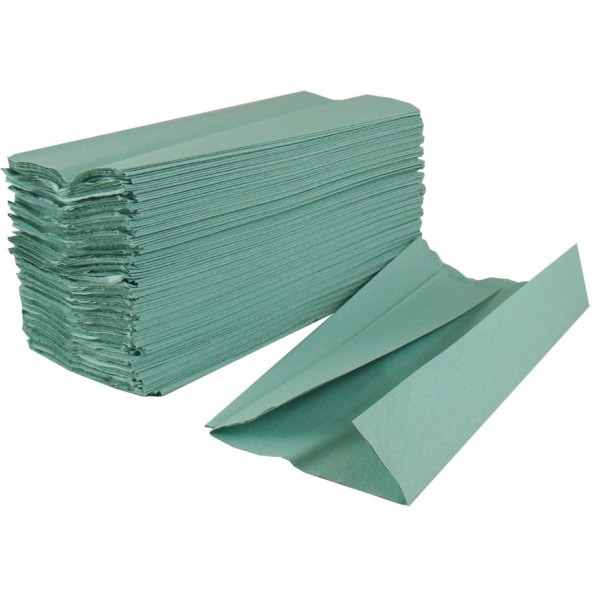 Standard 1 Ply C Fold Hand Towel Green | Medical Supermarket