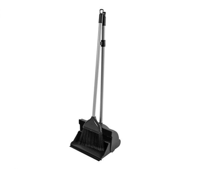 Essential Lobby Dustpan & Brush Black | Medical Supermarket