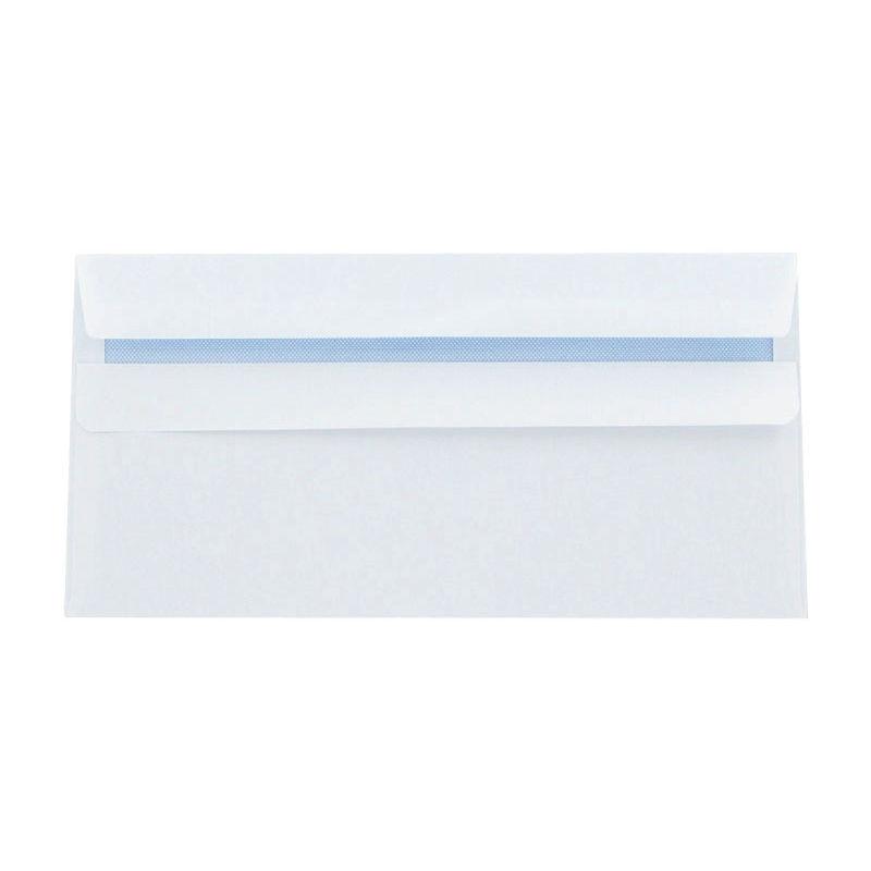 Wallet Peel and Seal White Envelope, DL 110 x 220 mm 100 gsm | Medical Supermarket