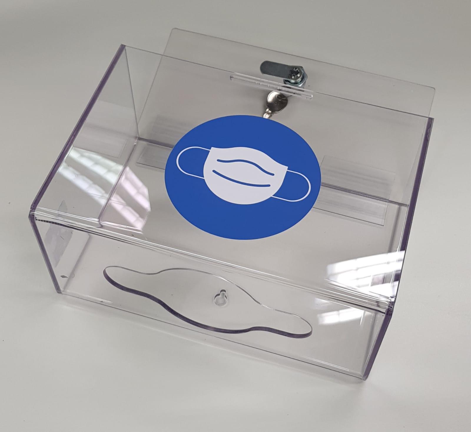 Lockable Disposable Face Mask Dispenser | Medical Supermarket
