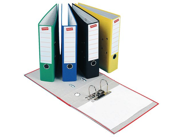 Foolscap 80mm Board Lever Arch Files Blue   Medical Supermarket