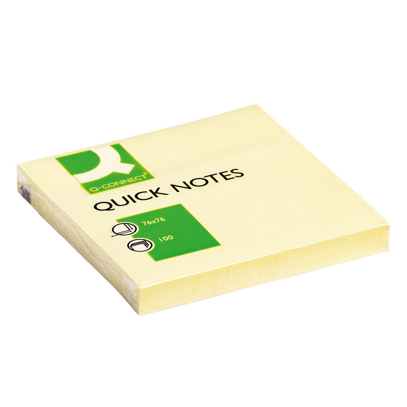 Yellow Sticky Notes 76 x 76mm   Medical Supermarket
