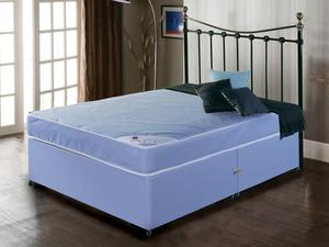 Single Divan Waterproof Fabric Shallow Base with Fixed Legs | Medical Supermarket