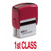 Colop Printer 20 FIRST CLASS Self-Inking Stamp Green | Medical Supermarket