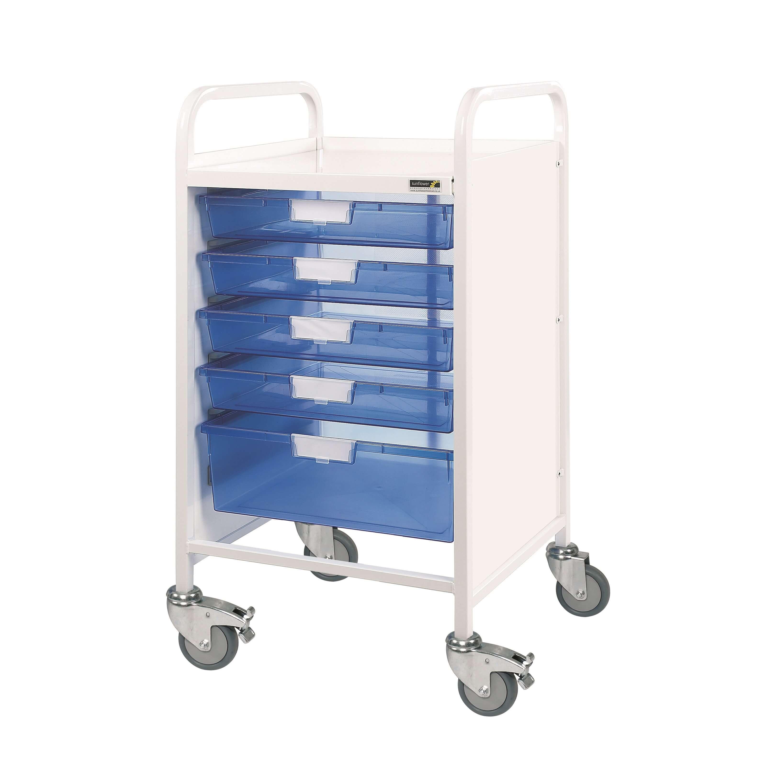 VISTA 50 Trolley 4 Single/1 Double Trays | Medical Supermarket