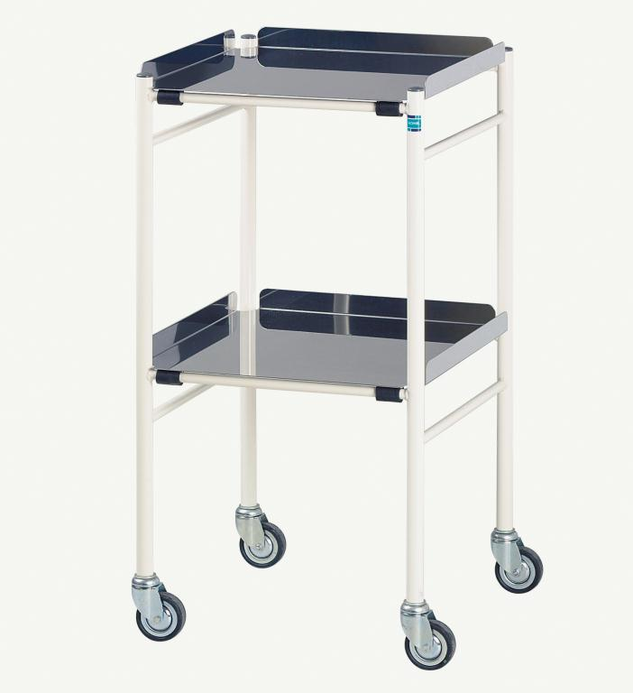 Harrogate Trolley with 2 Stainless Steel Shelves 460 x 460mm   Medical Supermarket