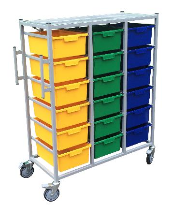 3 Tier Karri Carts 18 Trays Each | Medical Supermarket