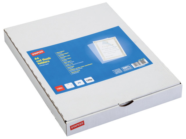 A4 Cut Flush Folders Clear | Medical Supermarket