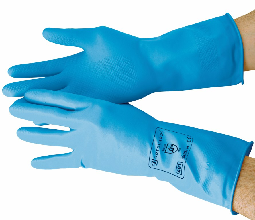 Blue Standard Household Gloves Large | Medical Supermarket