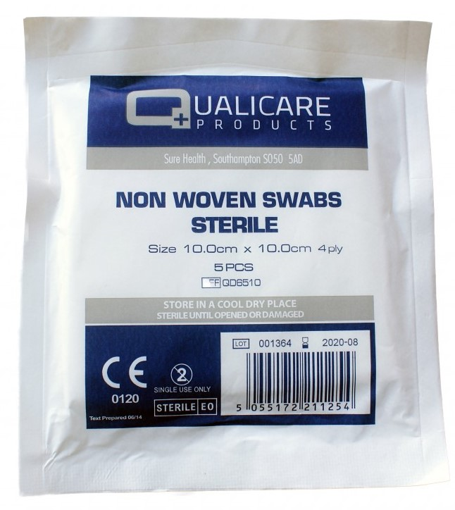 Sterile 4 Ply Non-Woven Gauze Swabs 5cm X 5cm | Medical Supermarket