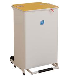 Kendal 50 Litre Waste Bin White Lid | Medical Supermarket