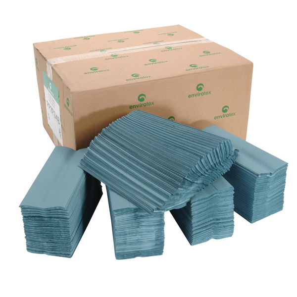 Standard 1 Ply C Fold Hand Towel Blue | Medical Supermarket