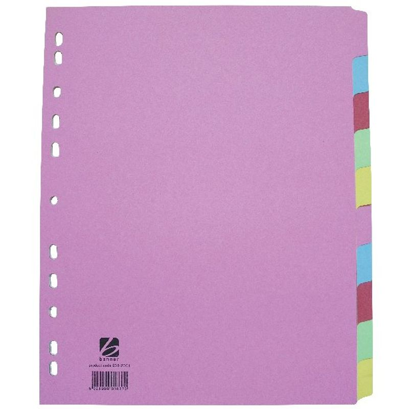 A4+ Subject Dividers 10 Part | Medical Supermarket