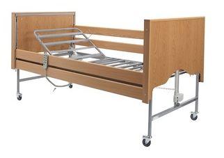 Casa Elite Standard Bed with Wooden Side Rail Kit + Delivery & Installation - Beech | Medical Supermarket