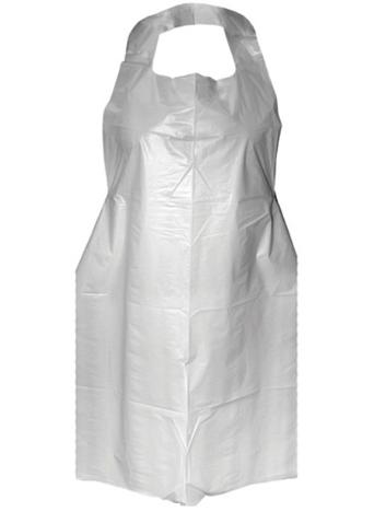 White 16mi Polythene Aprons Flat Packed x 200 | Medical Supermarket
