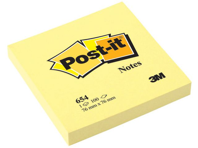 Post-it Canary Yellow Notes 76 x 76mm | Medical Supermarket