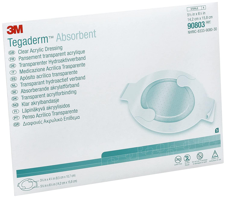 3M Tegaderm Absorbent Clear Acrylic Dressing 14.2 x 15.8cm | Medical Supermarket