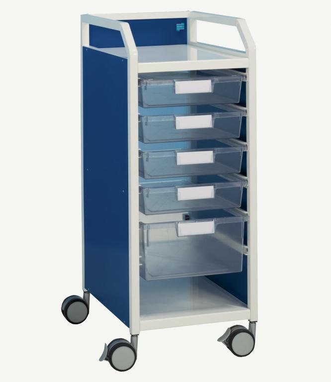 Howarth 2 Trolley Blue Panels | Medical Supermarket