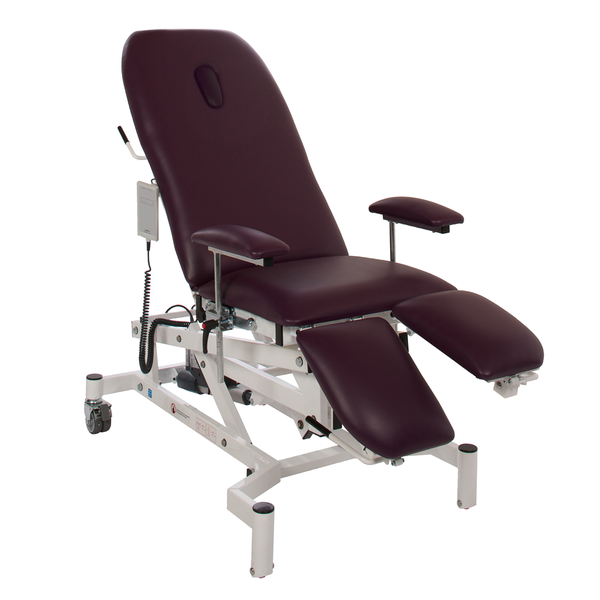 Doherty Variable Height Treatment Chair With Breathing Hole Midnight Black | Medical Supermarket